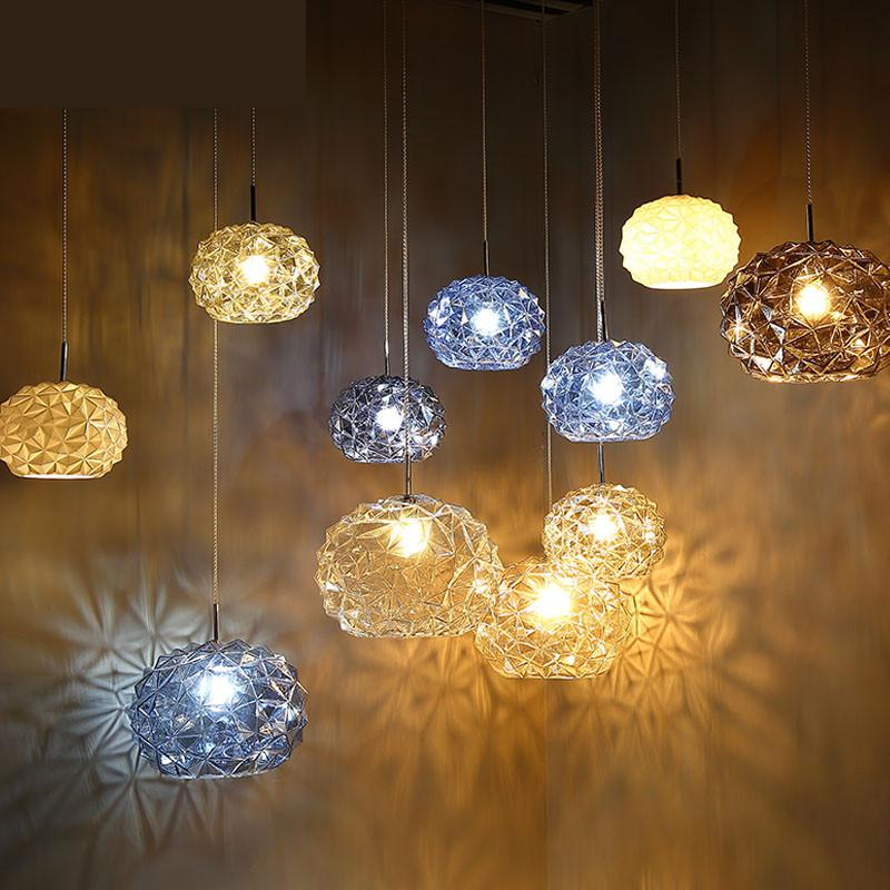 Restaurant Hanging Lights Creative Glass Led Lamp Modern Bedroom Luminaire Single Head Bar Dining Room Small Pendant Light iwhd led pendant light modern creative glass bedroom hanging lamp dining room suspension luminaire home lighting fixtures lustre