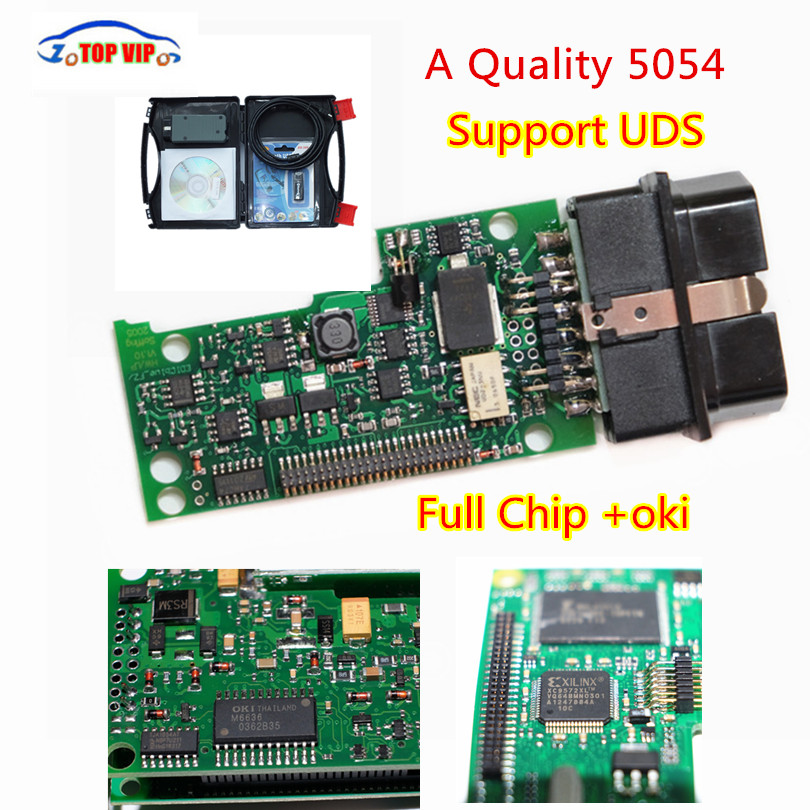2018 A+ VAS5054 Full Chip +OKI chip+More Stable Bluetooth Moudle VAS 5054A ODIS 3.0.3/4.2.3 Support UDS Protocol diagnostic tool 2017 dhl free original import chip new top multi language vas 5054a scanner version vas5054 vas 5054 bluetooth vas5054a