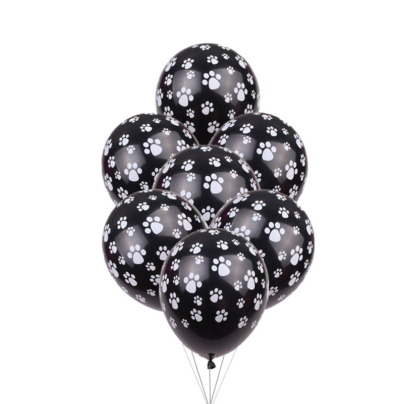 New 10pcs/lot black dog fins latex balloons Children's holiday party Supplies balloons wholesale Patrolling Toys globos