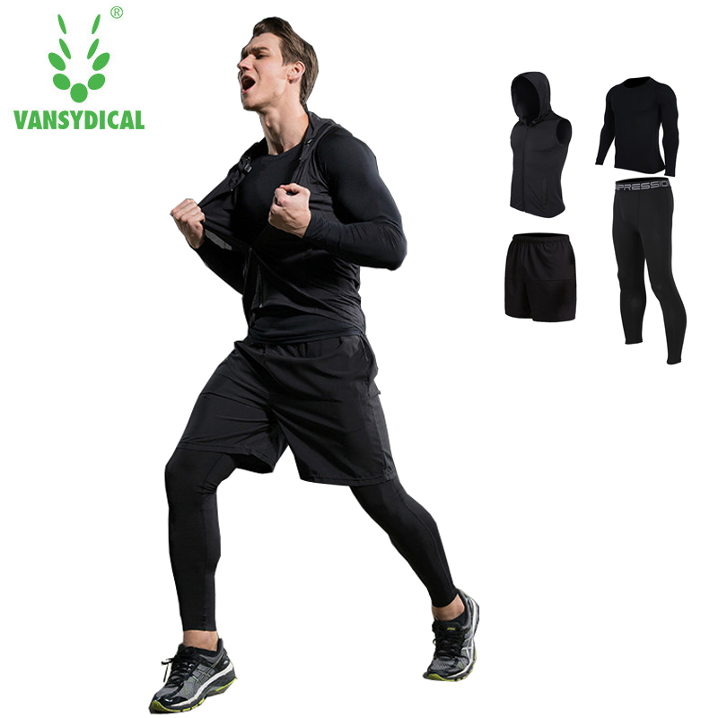 Newest Compression Short Sleeve T Shirt Pants Tights Tracksuit Male Fitness Wicking Gym Training Running Set Men Sport Suits libo breathable fitness sleeveless basketball suits for male