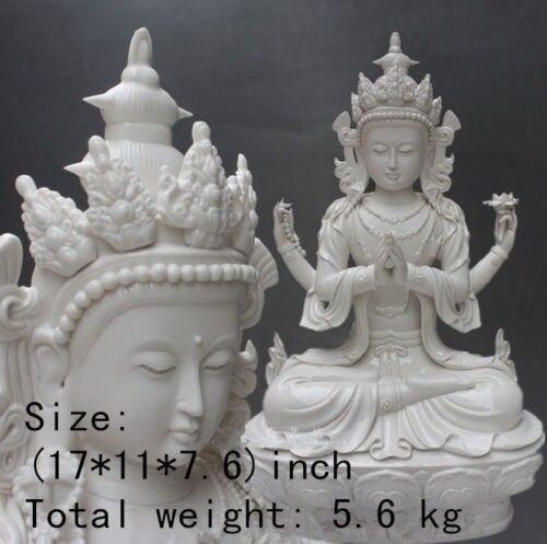 43 cm * /Dehua white porcelain of China peace guanyin