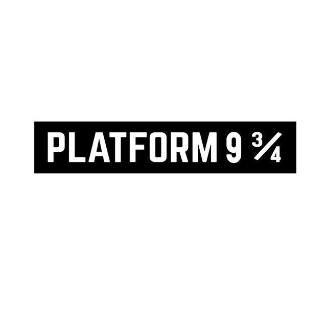 Adesivo da parete rimovibile in vinile con nome da parete Leisure4U Platform 9 3//4 Harry Potter