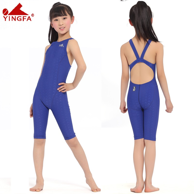 Yingfa Kids Swimwear Girl Swimsuit Women 2018 One Piece Swimwear Professional Swimming Suits Bathing Suit Girls Swimwear Women 1 8 years old kids swimsuit for girls lovely yellow duck bathing suit children swimsuit princess one piece swimwear swimming cap