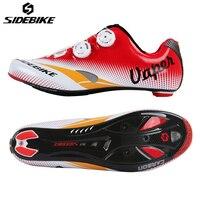 SIDEBIKE Cưỡi Cycling Road Carbon Khóa Tự Động Breathable Xe Đạp Giày Chu Kỳ Sneakers Sapatilha Ciclismo Zapatillas