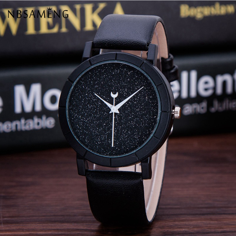 Watches New Crystal Women Watch Men Moon Stars Fashion Wristwatch Ladies Dress Design Watches Leather Clock Relogio Feminino Lz4199 To Ensure A Like-New Appearance Indefinably