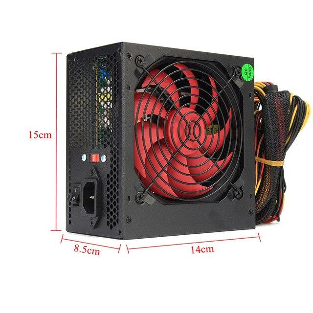 ATX-PC US/AU/EU Plug 80% Efficiency 550W PC BTC Power Supply 550 Watt 24 Pin PCI SATA ATX 12V Molex 3