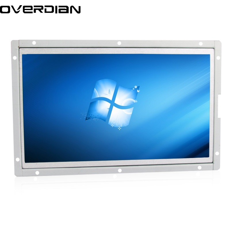 10/10.1 Industrial Control Lcd None Touch Monitor VGA/DVI Interface Metal Shell White Open Frame 1366*768 10 4 10 vga dvi interface non touch industrial control lcd monitor display 1024 768 metal shell hanger card installation 4 3