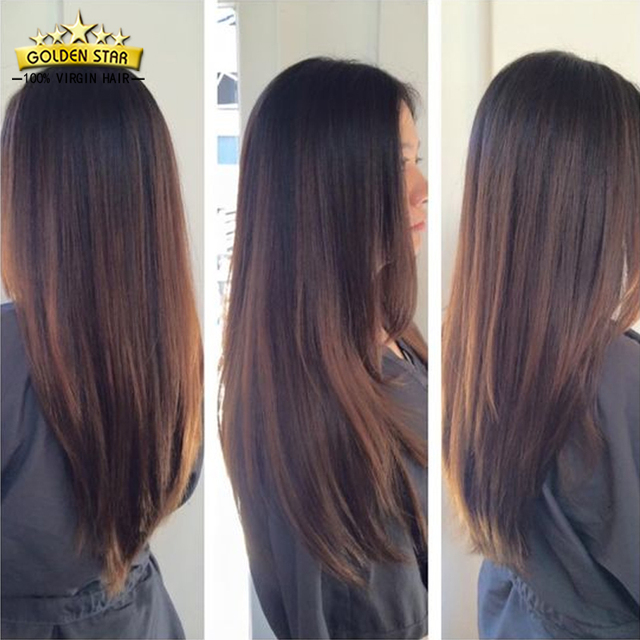 7a Peruvian Straight Virgin Hair 3 Bundles Dark Brown Human Hair