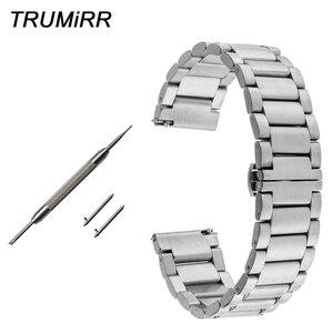 16 мм 18 мм 20 мм 22 мм ремешок для часов из нержавеющей стали быстроразъемный для Mido Baroncelli мужской женский браслет с пряжкой-бабочкой