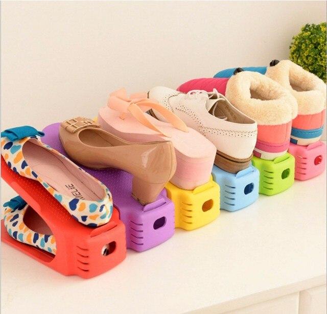 Doble Limpieza De Zapatos de Almacenamiento En Rack Bastidores de ...
