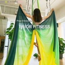 2020 15Yards/13,7 m bunte Fliegen luft seide Yoga Ombre Trapeze Sling Erweiterung Riemen Anti-schwerkraft Nylon ariel Yoga schaukel