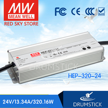 Hot! MEAN WELL original HEP-320-24 24V 13.34A meanwell HEP-320 24V 320.16W Single Output Switching Power Supply mean well original hvg 320 48b 48v 6 7a meanwell hvg 320 48v 321 6w single output led driver power supply b type