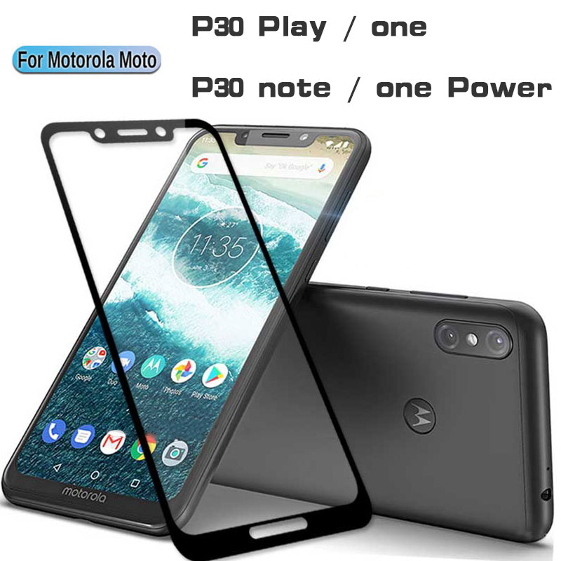 9D Protective Glass For Motorola Moto P 30 P30 Play Note One Power Tempered Glass For Moto One   P30play P30note Screen Protect