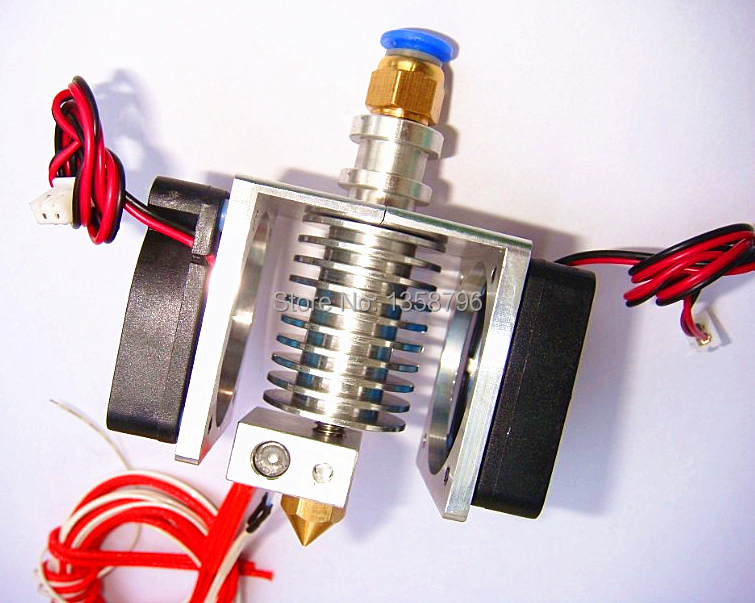 3D Printer Hotend with Dual Cooling Fan for 1.75mm/3.0mm Bowden&Wade J-head Extruder 0.2mm/0.3mm/0.4mm Nozzle 3d printer all metal j head hotend with cooling fan ptfe tubing for 1 75 3 0mm v6 bowden wade extruder 0 2 1 0mm nozzle
