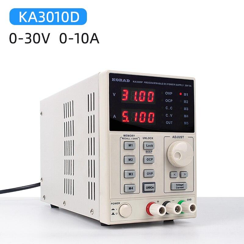KORAD précision Variable réglable 30V 10A DC alimentation linéaire numérique laboratoire réglementé Grade 4 LED numérique affiche KA3010D 220V