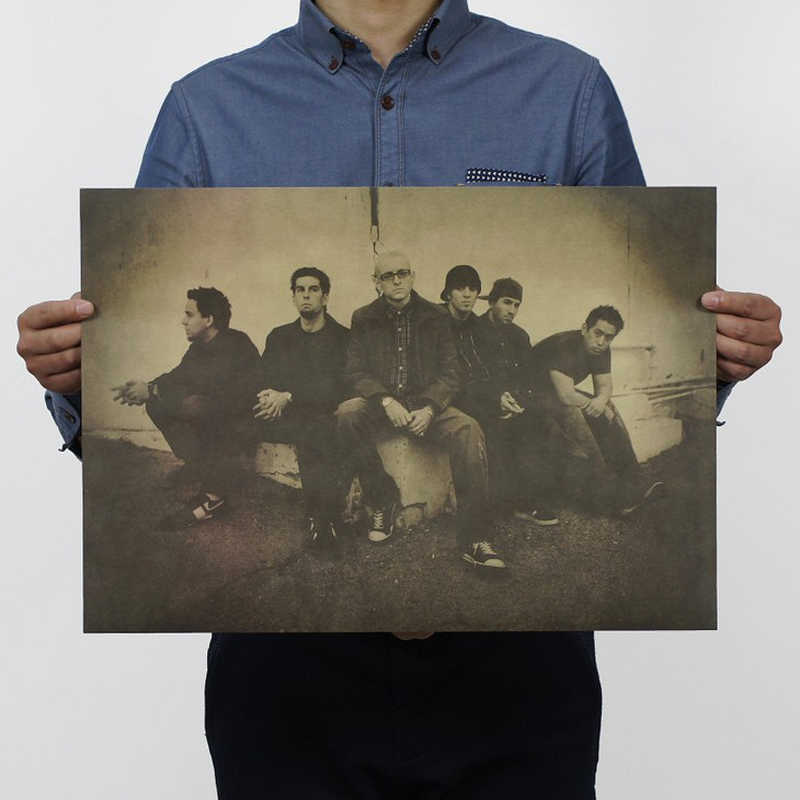 Il trasporto libero, Nostalgic Rock Band Linkin Park/carta kraft/Cafe/bar manifesto/Retro Poster/pittura decorativa 51x35.5 cm