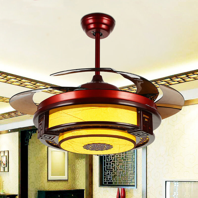 2019  Ceiling Fans lamp LED 42 108cm INCH Frequency conversion motor Traditional ceiling fan light dimmer Remote control 85-265V
