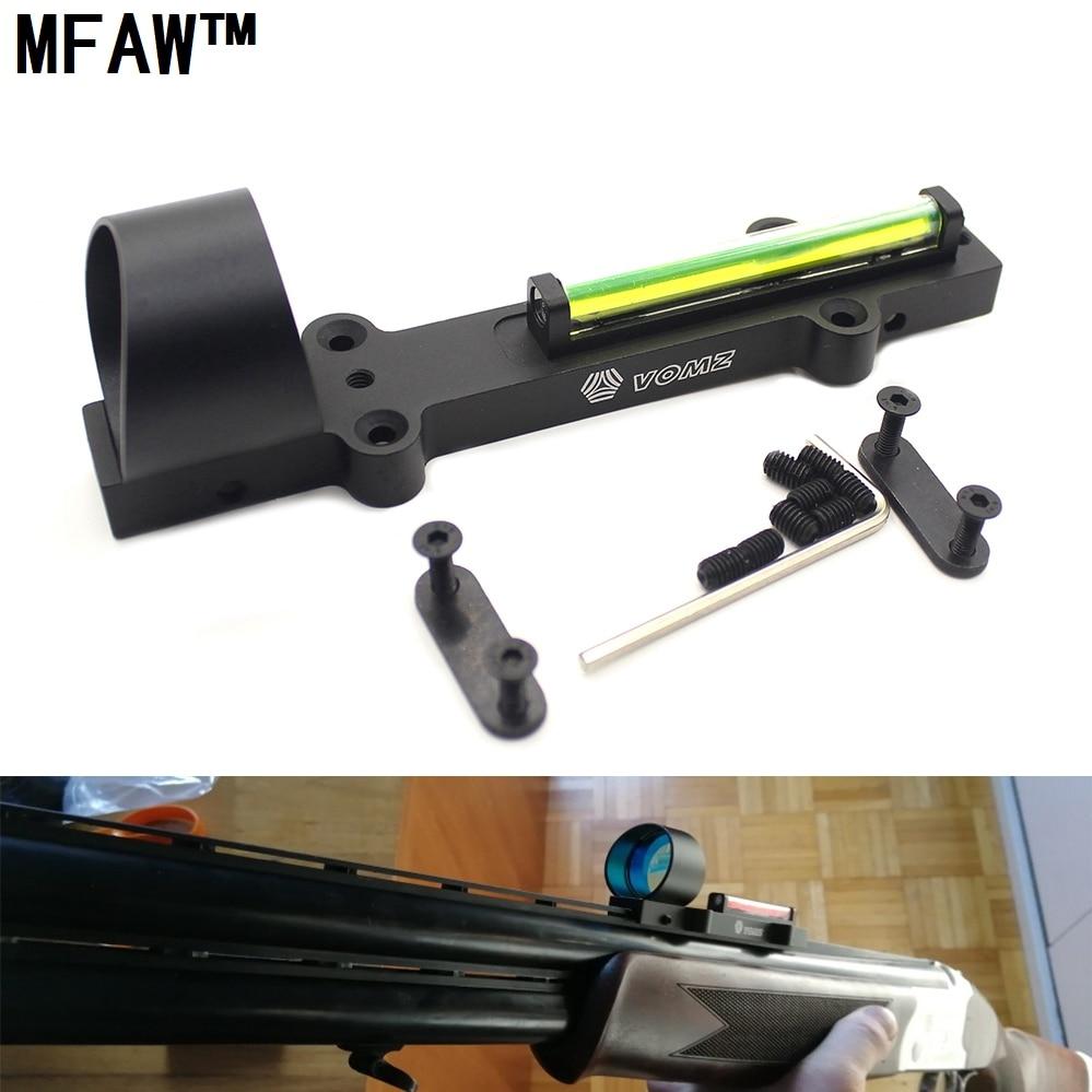Outdoor hunting Lightweight Fiber Sight 1x28 Red Dot Hunting Green Scope Fit Shotguns Rib Rail Hunting Shooting Red Dot -G22