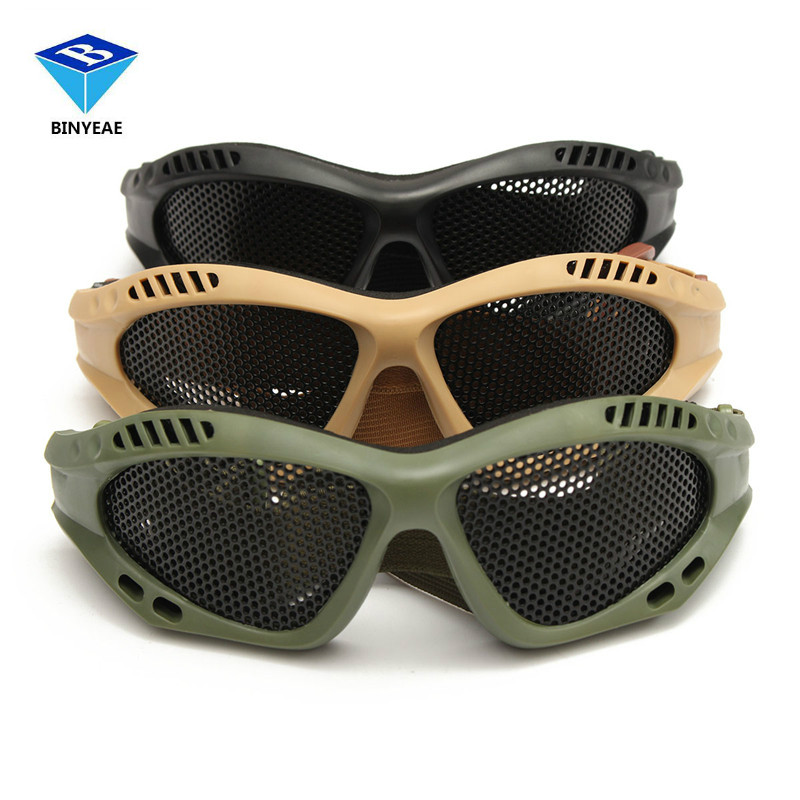 Riding Hunting Tactical CS Exp losion-Proof Swat Safety Net Outdoor Goggle Metal Mesh Eye Glasses Protection firefight exp
