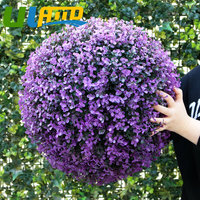 ULAND 48cm Sythenic Plastic Topiary Kissing Grass Ball Decorative Artificial Boxwood Grass Ball Garden Home Store Ornaments