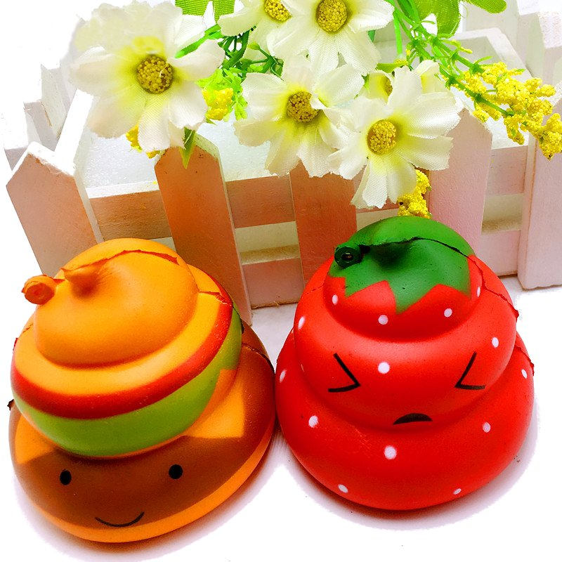 High Quality for Squishy Burger Poo Slow Rising Scented Cartoon Bun Gift Decor Collection Phone Straps Chidren Gift
