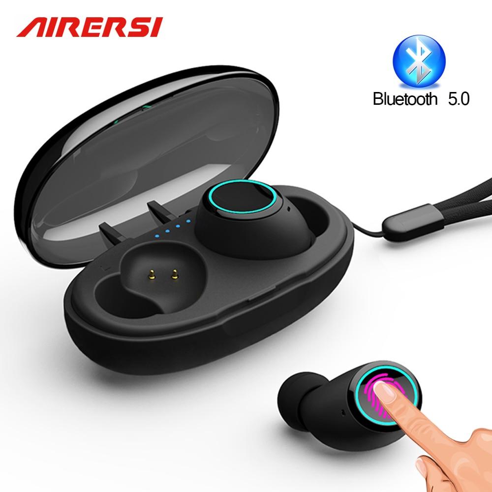 Newest TWS wireless Earphone Bluetooth 5 0 Touch Mini Sports earphones 3D Stereo Earbuds Headset pk