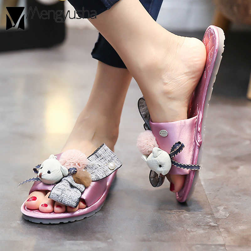 fashion bear riband fur shoes women