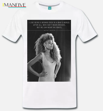 T Shirt Maglia Meme Omaggio A Whitney Houston Citazione Quote Grande Voce 100% Cotton Short Sleeve O Neck Tops Tee Shirts S 3Xl цена