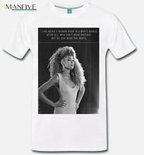 T Shirt Maglia Meme Omaggio A Whitney Houston Citazione Quote Grande Voce 100% Cotton Short Sleeve O Neck Tops Tee Shirts S 3Xl