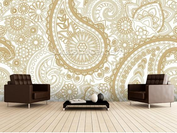 Custom Retro Wallpaper Paisley 3d Wallpaper Pattern Wallpaper For