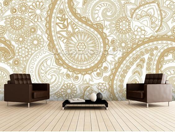 Kundenspezifische Retro Tapete Paisley 3d Tapete Muster Tapete Für