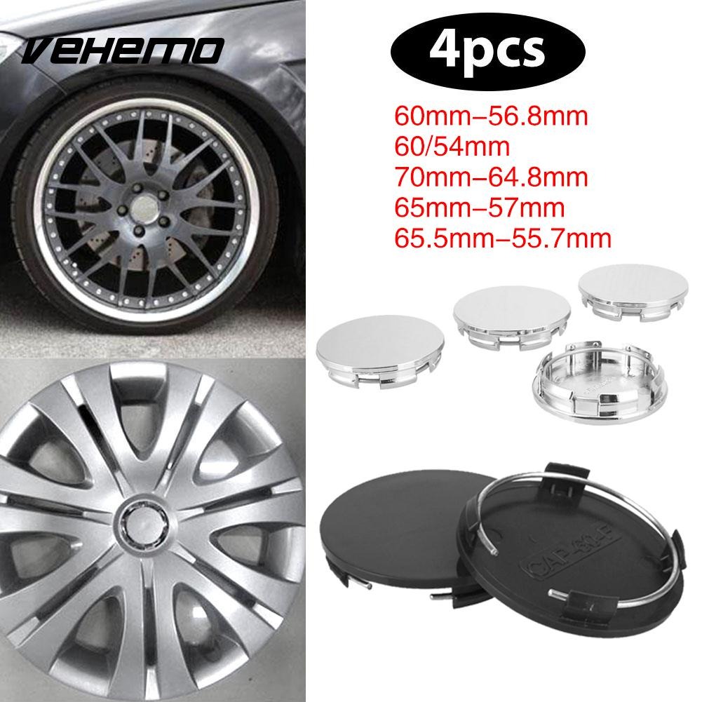Supply Vehemo 4pcs Tire Car Styling Wheel Hub Cover Wheel Center Cap No Logo Silvery White Premium Hub Cap Dust Cover Stylish