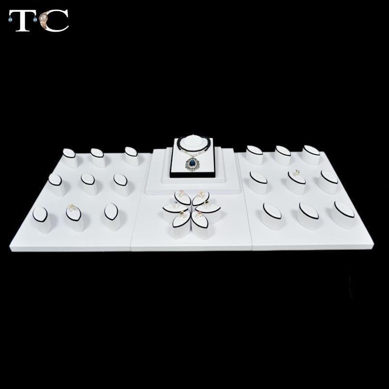 133c2b282675 Оптовая манекен из искусственной кожи Jewelry Дисплей Showcase Набор для  neckalace браслет кольцо кулон подставка держатель модель Чехол