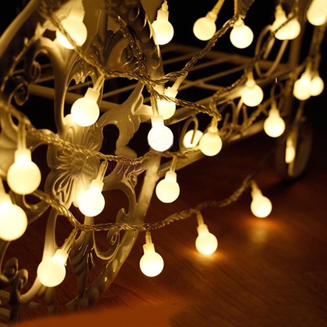 Thrisdar 5M 50 Led Cherry Balls Fairy String Garland Light Battery Operated Wedding Christmas Light Outdoor & Thrisdar 5M 50 Led Cherry Balls Fairy String Garland Light Battery ...