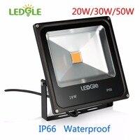 LEDGLE 20W/30W/50W IP66 Waterproof COB LED Bead Bright LED Flood Lights Outdoor Floodlights Waterproof LED Wall Washer Warm/Cold