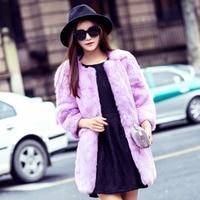 Rabbit Fur Coat Medium Long 2016 Winter Women S Thickening