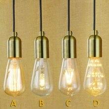 IWHD lámpara de hierro cap lámparas colgantes LED Loft lámpara colgante industrial Vintage lámpara cocina comedor hogar iluminación Fixyures Lamparas