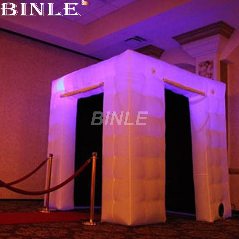 Esterni decorato open air LED gonfiabile <font><b>photobooth</b></font> gonfiabile portatile wedding photo booth con 2 porte image
