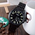Onlyou Brand Watches Men Business Dress Quartz Watch Stainless Steel Watchband Black Watch Luminous Relogio Masculino 81050