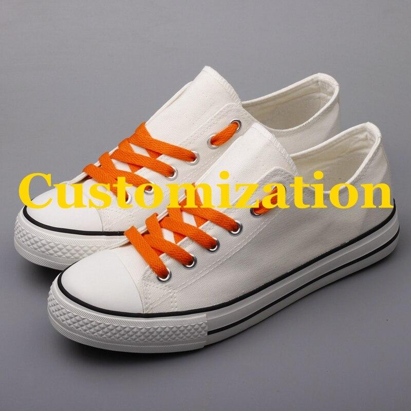 Mode Männer Casual Plattform Leinwand Schuhe Customozation Paare Leinwand Flache Schuhe Plus Größe Tenis Espadrilles Für Geschenk Zapatillas