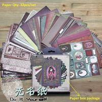 Neue Ankunft DIY Fotoalbum Scrapbooking Dekorative Papiere 6in x 6in Einseitig Gedruckt 32 teile/satz
