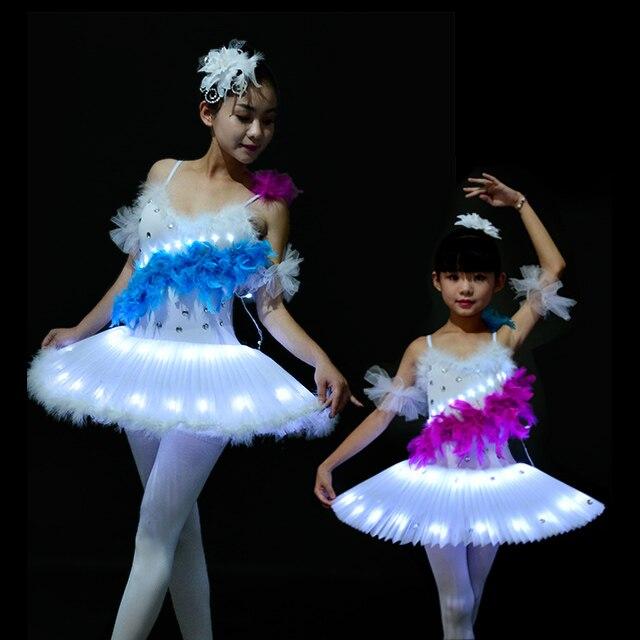 cc6c377d318f 2017 New Professional Ballet Tutus Adult Female LED Performance ...
