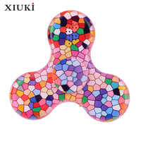 New Hand Spinner LED Luminous Music Bluetooth Speakers Broken Pattern Tri Fidget EDC For Anti Stress