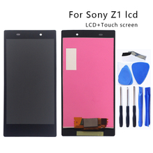 Para Sony Xperia Z1 L39H LCD pantalla digitalizador cristal Panel montaje para Sony Xperia Z1 L39H C6902 C6903 C6906 pantalla herramienta de la pantalla