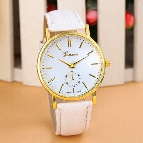 2016 nova famosa marca genebra ouro relógio de quartzo casuais Lether pulseira vestido relógios relógio Feminino relógio Hot horas