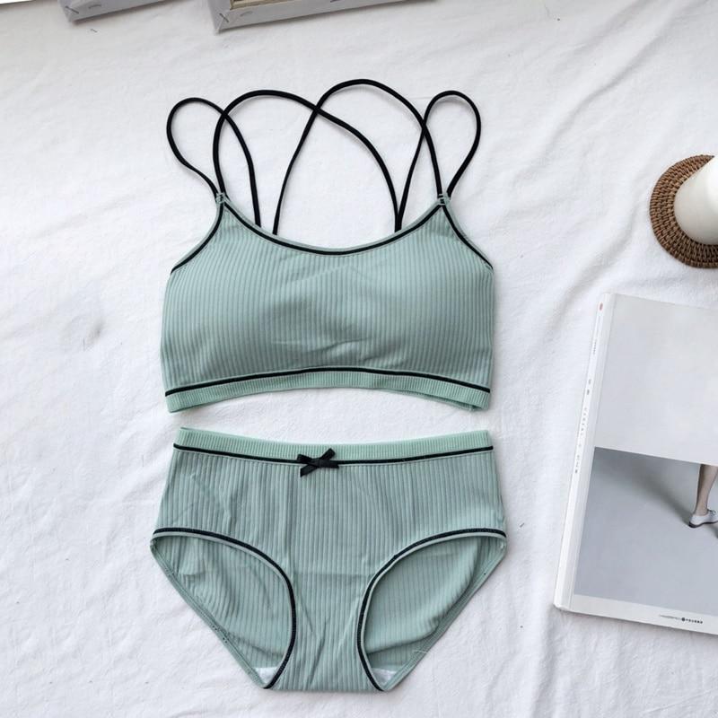Comfortable Wireless Bra Sets Women Cotton Bra Set Lingerie 2019 Female Underwear
