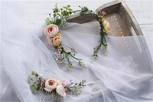 Image 2 - Vintage Wedding Headband Flower Wedding Hair Comb Bohemia Wedding Jewelry Handmade Hair Pieces for Women  Flower Headwear HD26