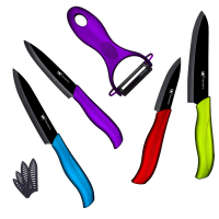 Black Blade High Quality Fashion 4 Colors Fruit Vegetable Ceramic Knife 3 4 5 6 Inch