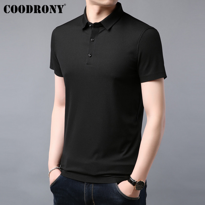 COODRONY T Shirt Men Summer Soft Cool Short Sleeve T Shirt Men Clothing Business Casual Classic All match Tee Shirt Homme S95076 in T Shirts from Men 39 s Clothing
