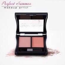 Perfect Summer 2Color/Box Professional Makeup Blush Face Blusher Powder Palette Cosmetics High Quality Blush Natural Face Blush